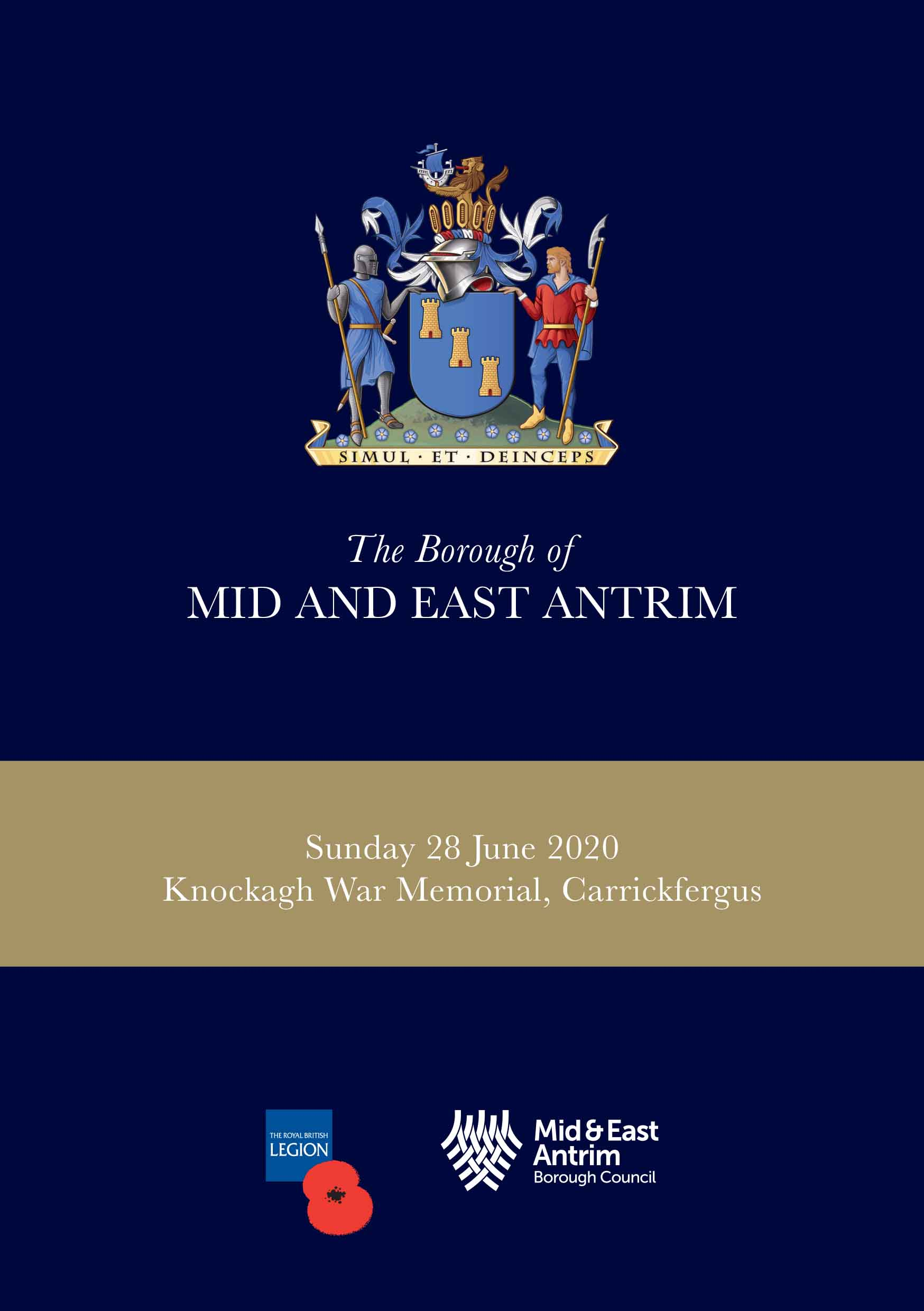 Cover of the Somme Commemoration Service booklet
