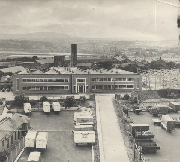 Corran Works - Corran Works Ltd, part of the Pye Group, opened at the harbour in Larne in 1947 manufacturing radio sets and components.