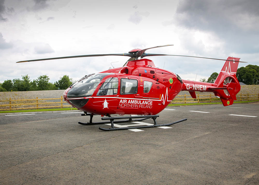 Photograph of the Air Ambulance NI helicopter