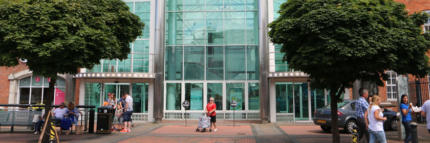 Photograph of Carrickfergus Civic Centre entrance