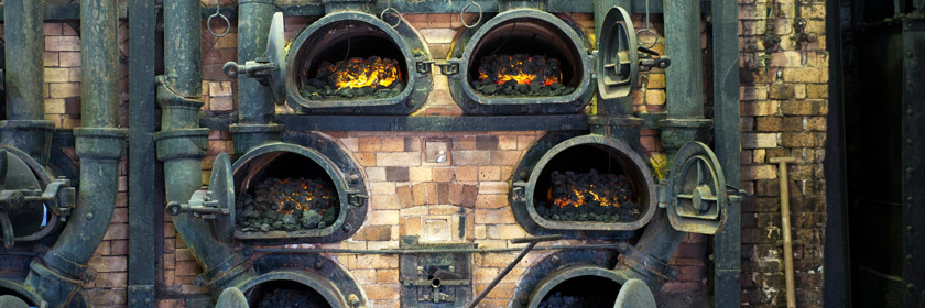 Photograph of ovens at Flame! Gasworks Museum