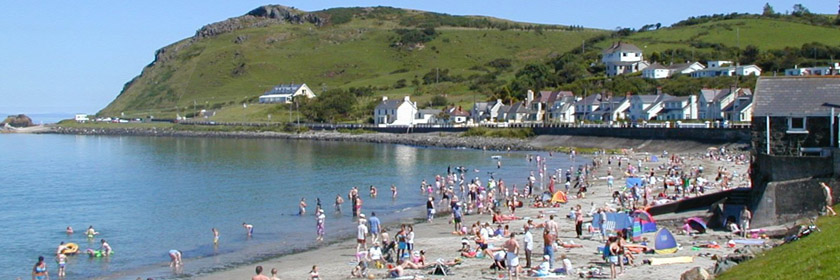 Photograph of Ballygally beach during the summer