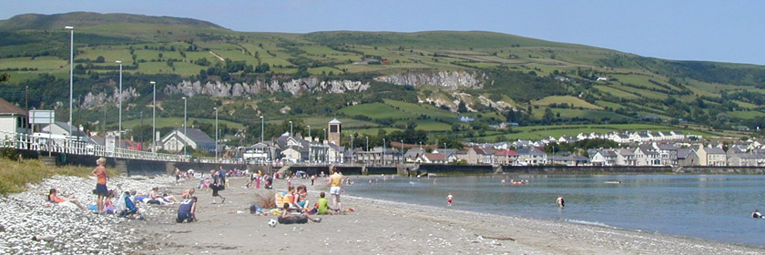 Photograph of Carnlough beach during the summer
