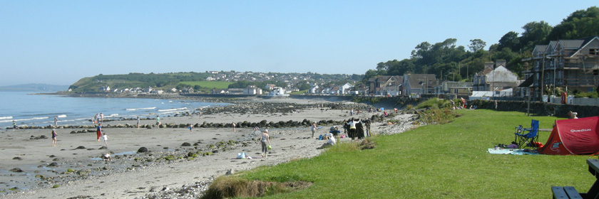 Photograph of Drain's Bay on a summer's day