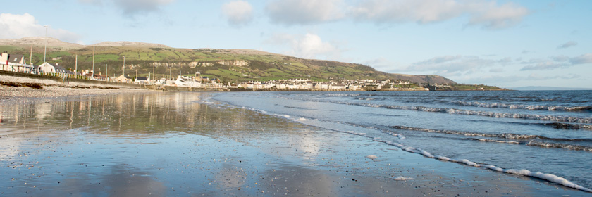 Photograph of a beach in Mid and East Antrim