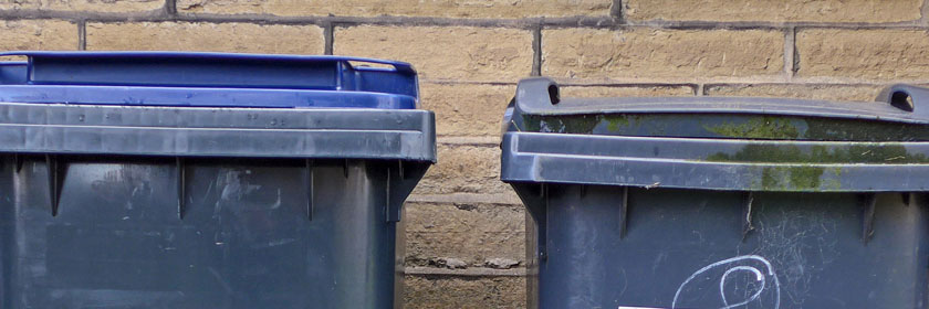 Photograph of two bins