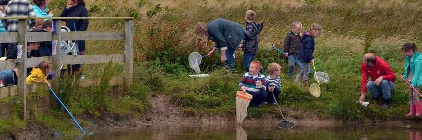 Photograph of children pond-dipping