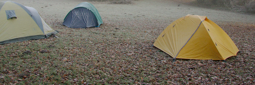Photograph of some tents