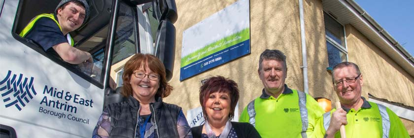 Picture of a Mid & East Antrim staff at a local community group