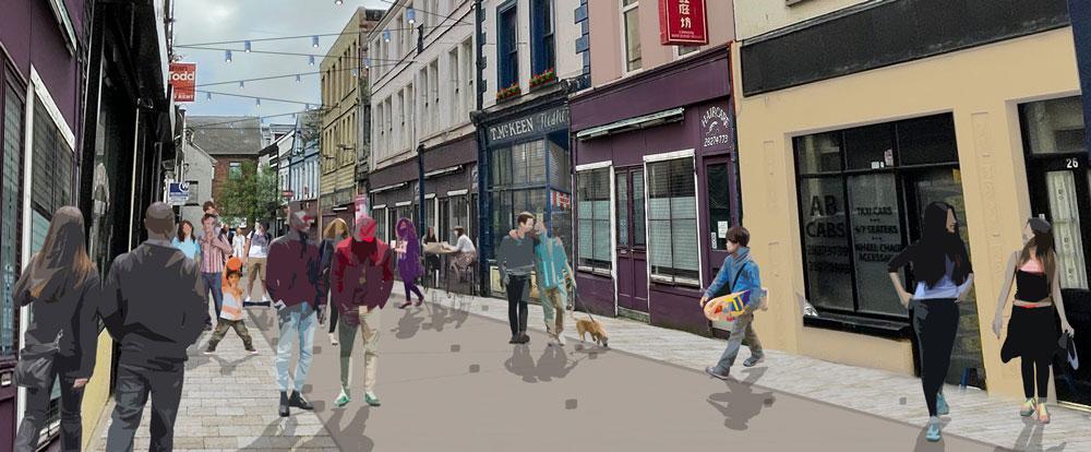 Dunluce Street Pedestrianised