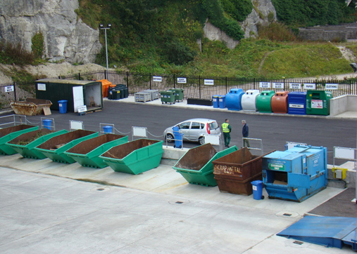 Photograph of Glenarm Household Recycling Centre