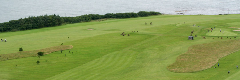 Photograph of the view from course at Larne Golf Club