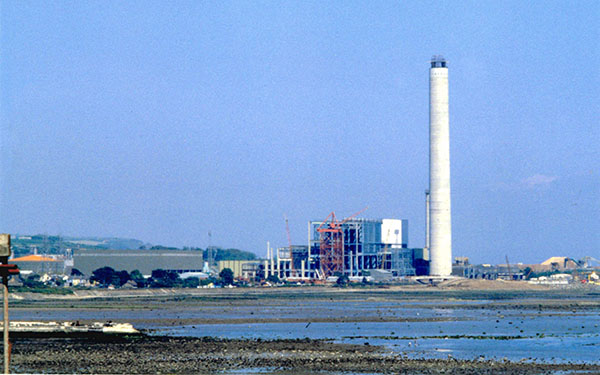 Kilroot Power Station during construction, June 1978