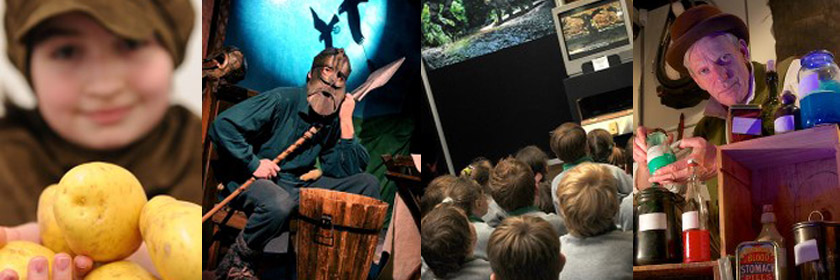 Series of images of activities at Larne Museum and Arts Centre