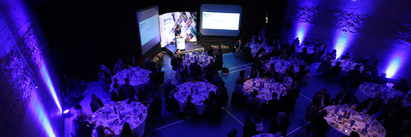 Photograph of the McNeill Theatre for the MEA Sports Awards