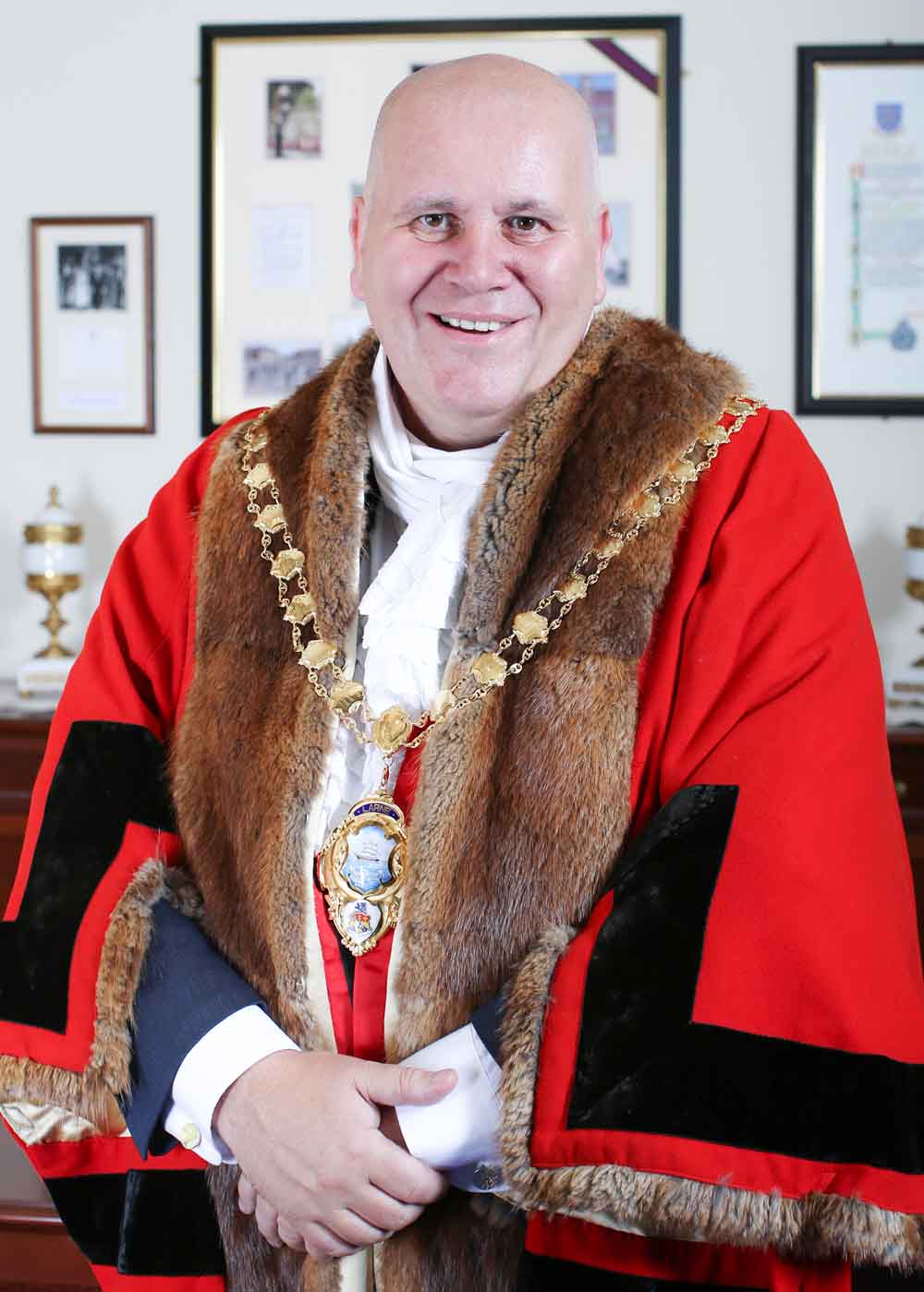Mayor of Mid and East Antrim Borough, Councillor Paul Reid