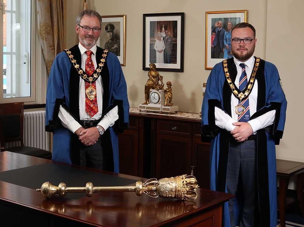 Mayor William McCaughey and Deputy Mayor Matthew Armstrong