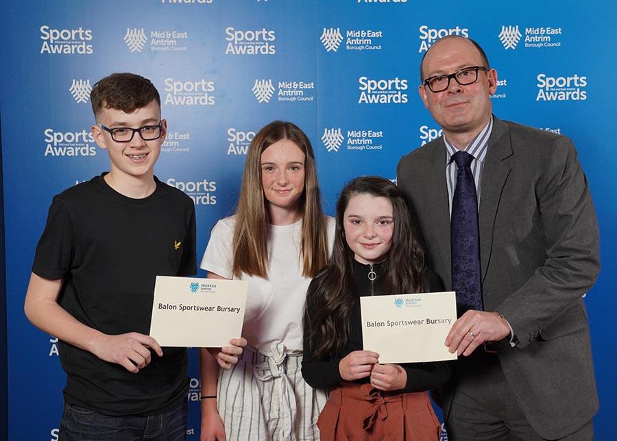 Balon Sportswear were also awarded to Joel McKimm (golf) and Katie and Isla Allen (athletics).