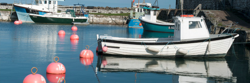 Photograph of boat in Carnlough Harbour