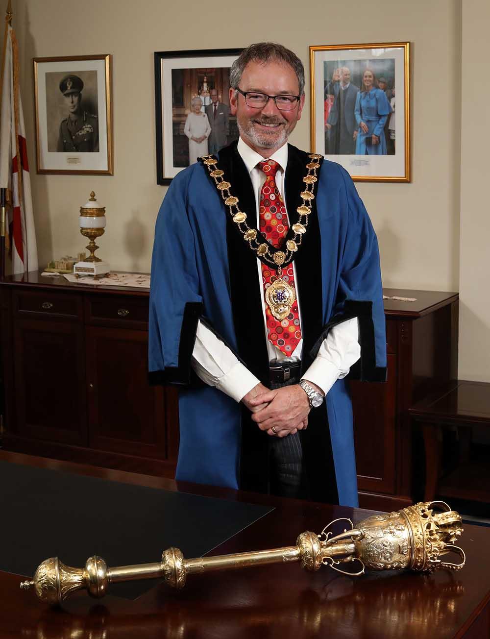 Mayor of Mid & East Antrim, Councillor William McCaughey