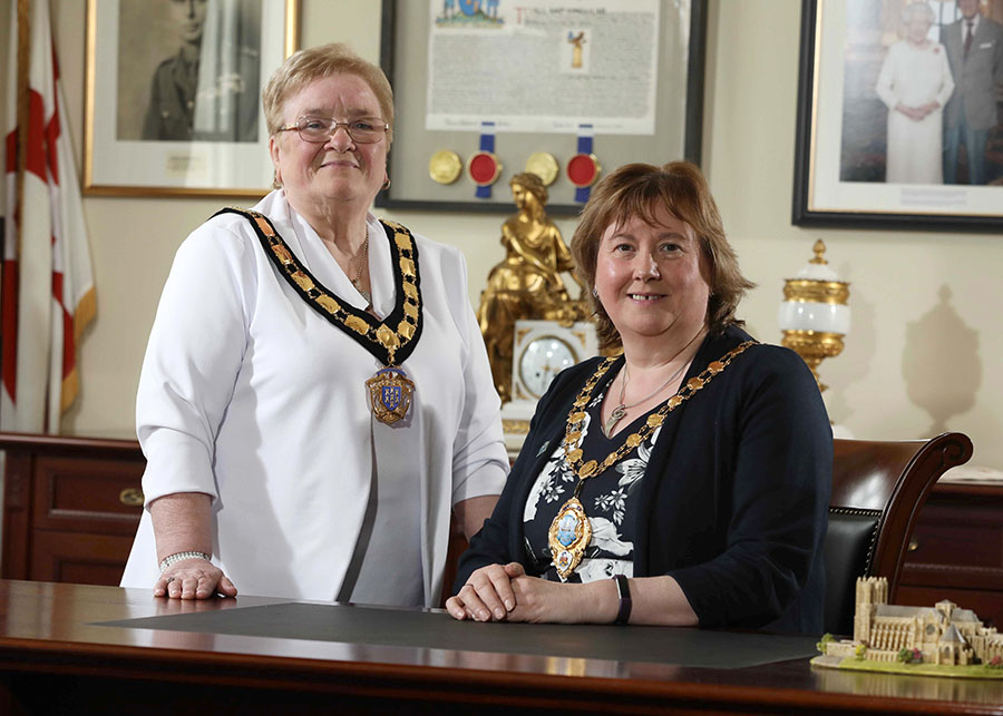 Mayor Maureen Morrow and Deputy Mayor Beth Adger MBE