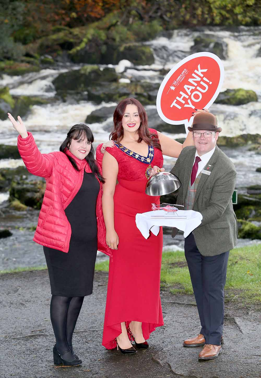 Mayor Lindsay Millar announcing her Charity Ball event to be held at Galgorm Resort & Spa