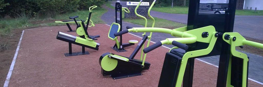 Photograph of an outdoor gym