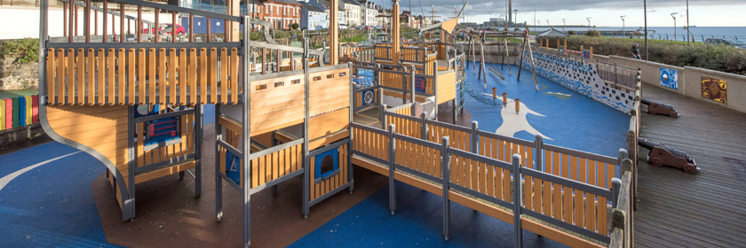 Photograph of the play park at Marine Gardens, Carrickfergus