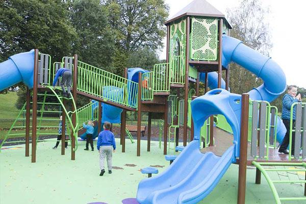Senior play area equipment