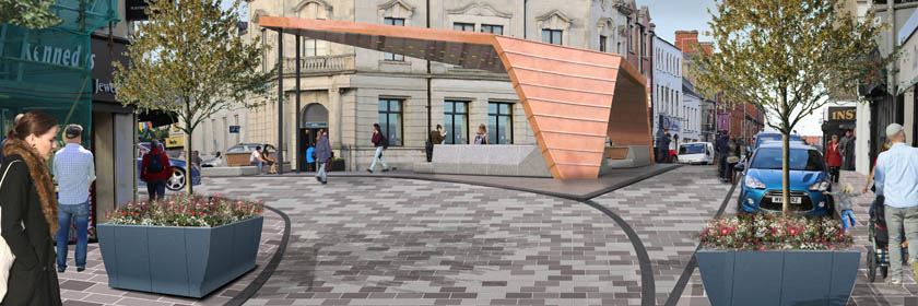 Image of the proposed public realm works in Ballymena