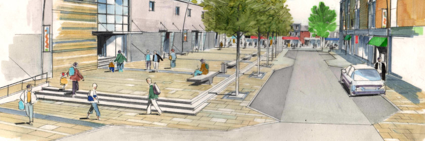 Picture of the proposed Larne Public Realm works