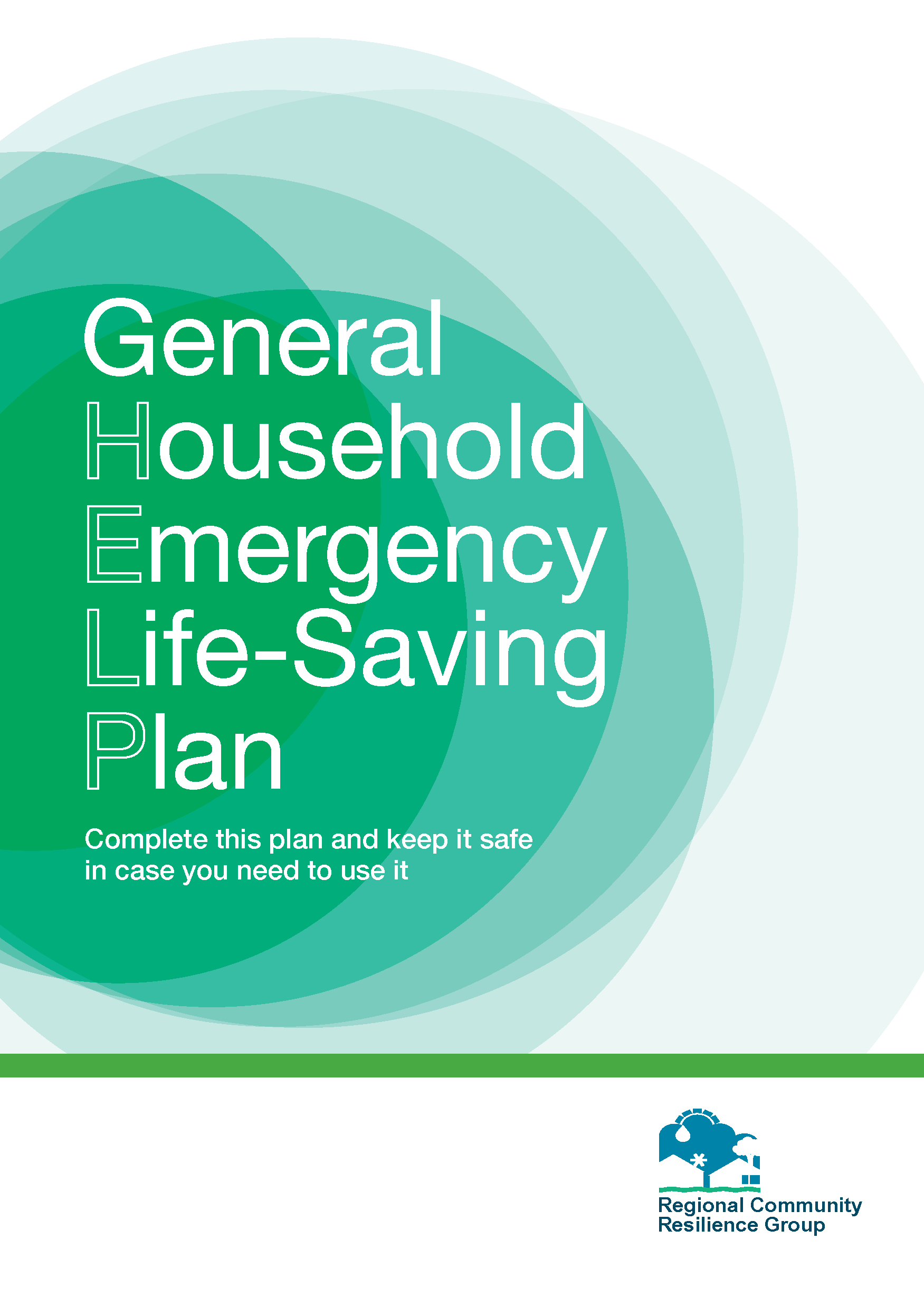 General Household Emergency Life-Saving Plan