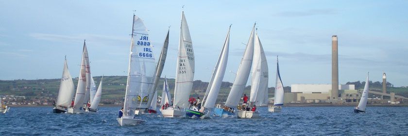 Photograph of sailing boats on Belfast Lough