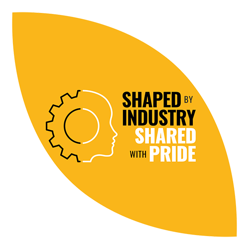 Shaped by Industry, Shared with Pride logo
