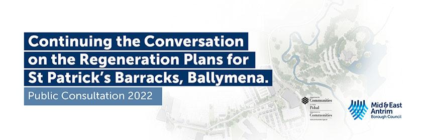 birds eye view of the Saint Patrick's Barracks site in Ballymena