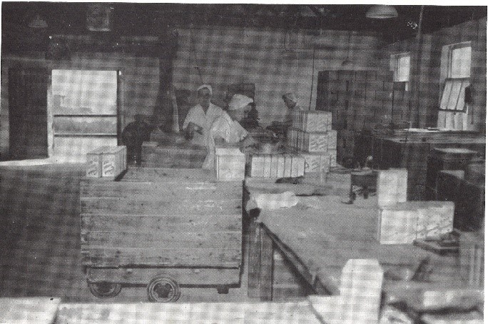 The packing room, Clipperstown Salt works, 1955