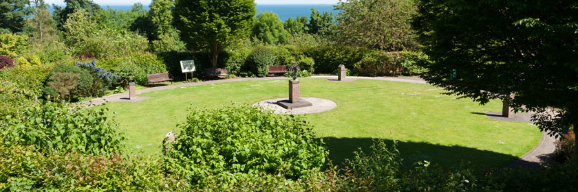 Photograph of the sundial in Carnfunnock Country Park