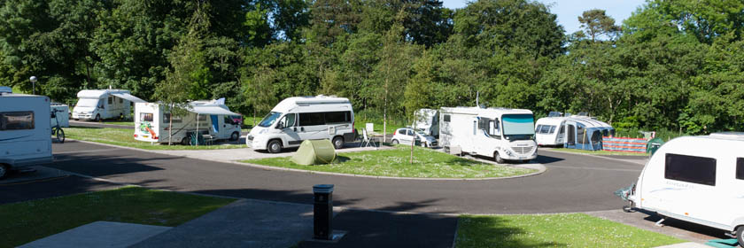 Photograph of the caravan and camping site at Carnfunnock