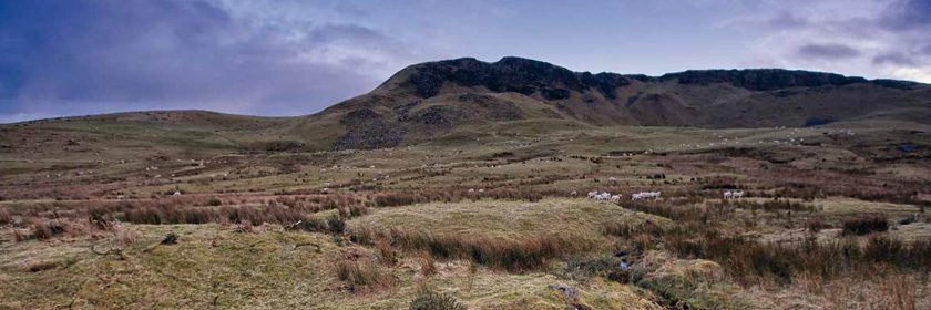 Photograph of Cairncastle, a site used in the Game of Thrones® series