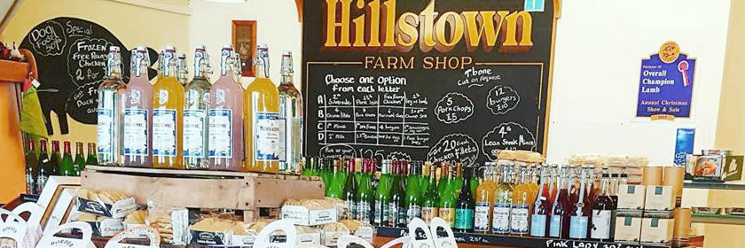 Photograph of the inside of Hillstown Farm shop. Taken from their facebook page.