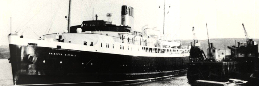 Photograph of the MV Princess Victoria ship
