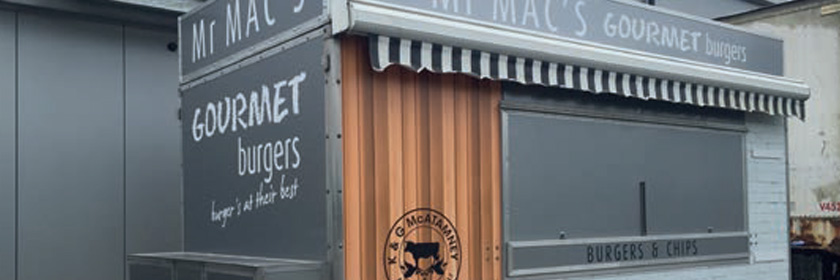 Photograph of Mr Mac's Gourmet Burger trailer