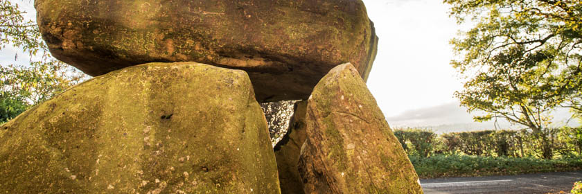Photograph of the Ballylumford Dolmen