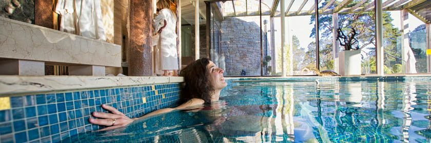 Photograph of a woman at Galgorm Spa.  Image copyright of Tourism NI.