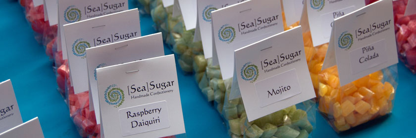 Photograph of Sugar Sea's sweets. Image from the Sugar Sea website.
