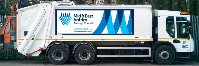 Photograph of a bin lorry