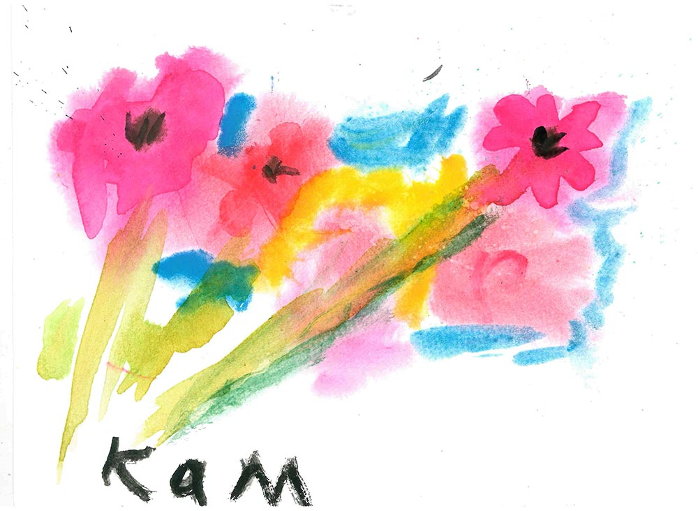 Winner in the Painting Compeition (10 and under) is Kallista McClean, age 7, from Whitehead