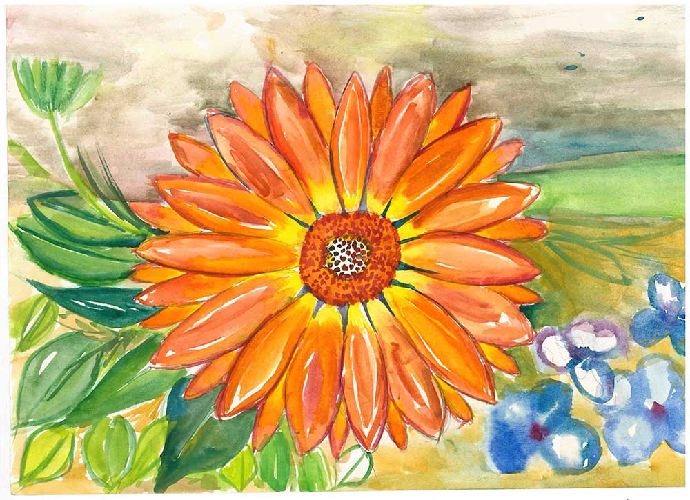 Winner of the Painting Competition (16 and under) is Kendal Maguire, aged 15, from Carrickfergus