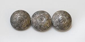 brooch is made from 3 An Garda Siochana buttons