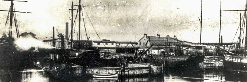 An old image of Carrickfergus harbour